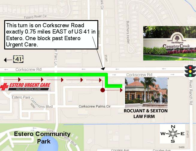Rocuant & Sexton Law-from-US41-Map1